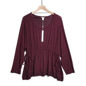 NWT Caslon Plus Size XXL Cinched Waist Knit | B408